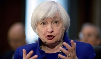 In this Tuesday, Feb. 14, 2017, file photo, Federal Reserve Chair Janet Yellen testifies on Capitol Hill in Washington, before the Senate Banking Committee. (AP Photo/Andrew Harnik, File)