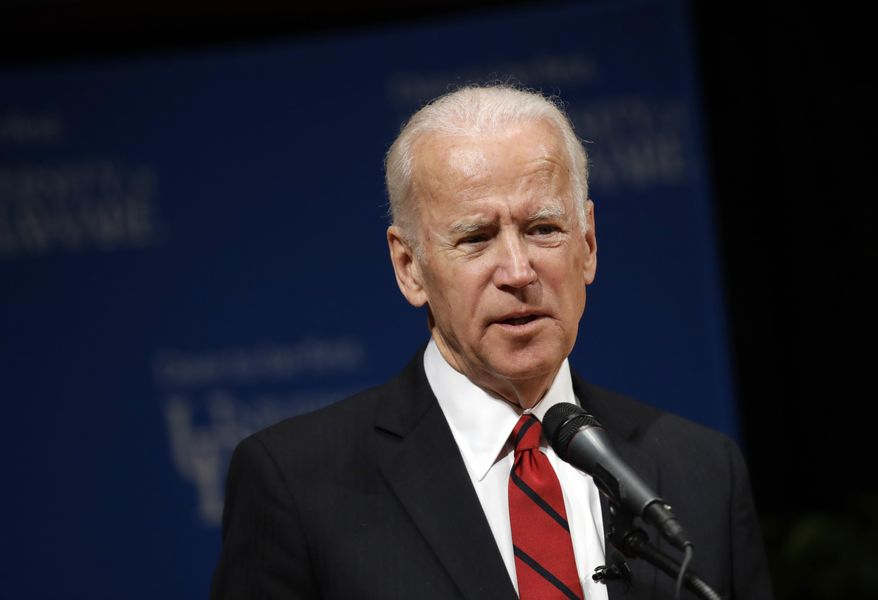 Former Vice President Joe Biden speaks during an event to formally launch the Biden Institute, a research and policy center focused on domestic issues at the University of Delaware, in Newark, Del., Monday, March 13, 2017. (AP Photo/Patrick Semansky) **FILE**