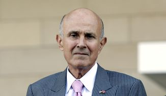 Former Los Angeles County Sheriff Lee Baca leaves federal court in Los Angeles after his corruption trial went to the jury Monday, March 13, 2017, in Los Angeles. Prosecution and defense attorneys finished closing remarks earlier Monday. (AP Photo/Nick Ut)