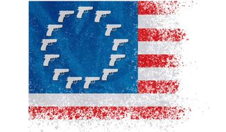 Old Glory Gun Rights Illustration by Greg Groesch/The Washington Times