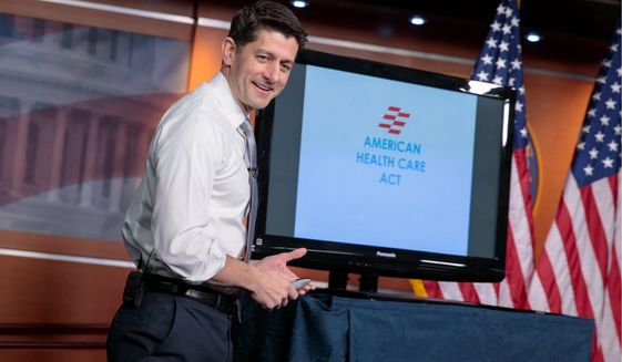 House Speaker Paul D. Ryan made his case for the Republicans' plan to repeal and replace the Affordable Care Act last week, but the Congressional Budget Office has reported some unsettling numbers. (Associated Press)