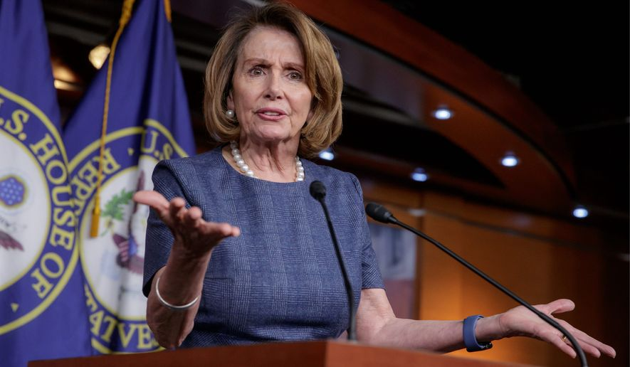 """Asked Sunday whether there is room in the party for people who are pro-life, the staunchly pro-choice House Minority Leader Nancy Pelosi responded, """"Of course."""" (Associated Press/File)"""