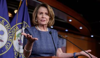 House Minority Leader Nancy Pelosi said she would have retired from Congress had Hillary Clinton won the election, but she decided to stay on to battle President Trump. (Associated Press)