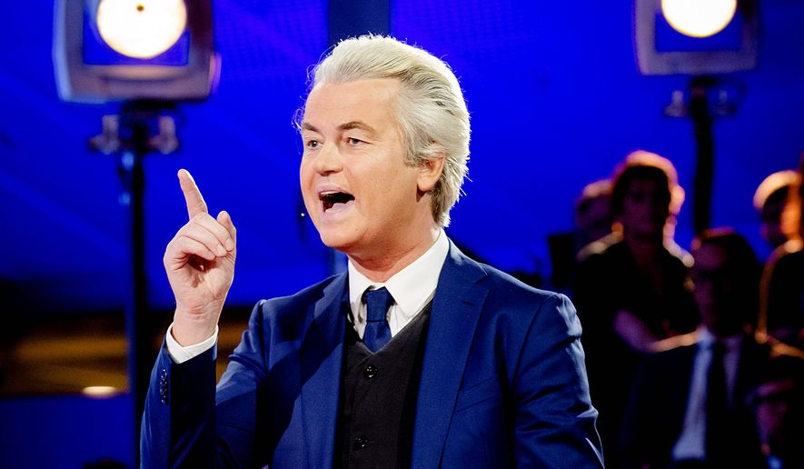 The Dutch vote Wednesday in a parliamentary election seen as a bellwether for the future of populism, and anti-Islam, anti-EU candidate Geert Wilders is seen by many as a viable option. (Associated Press)