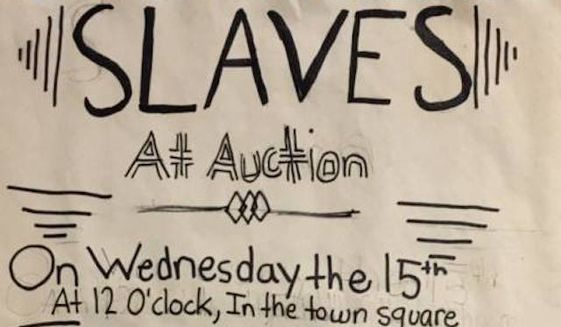 """The superintendent of the South Orange-Maplewood School District has apologized for a """"culturally insensitive"""" fifth grade class assignment that required students to create slave auction ads. (Facebook/Jamil Karriem)"""