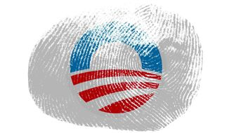 Obama Fingerprint Illustration by Greg Groesch/The Washington Times
