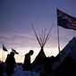 Tribal leaders' peaceful protest against the Dakota Access oil pipeline has erupted into violent encounters with police from outside agitators. (Associated Press)