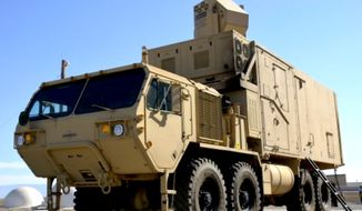 The U.S. Army plans to test the High Energy Laser Mobile Tactical Truck (HELMTT) in conjunction with Lockheed Martin prior to Summer 2017. (Image: U.S. Army Test and Evaluation Command) ** FILE **