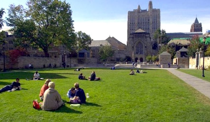 "Administrators at Yale may refrain from using the term ""freshman"" in favor of a gender neutral alternative. (Associated Press) ** FILE **"