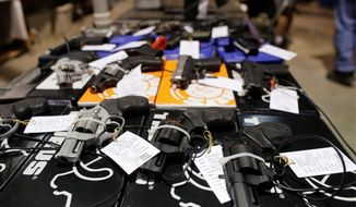 The gun market is relatively hot, but activists say it would have broken records had Hillary Clinton been elected. The National Shooting Sports Foundation is offering advice to retailers on how to survive the change with pro-gun President Trump. (Associated Press)