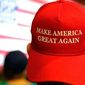 "Wearing a red ""Make America Great Again"" ball cap may not be the wisest thing to do in New York City, according to some. (Associated Press)"