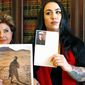 Former Marine Erika Butner, with attorney Gloria Allred, said photographs of her and another active-duty female Marine were posted online without their consent. (Associated Press)