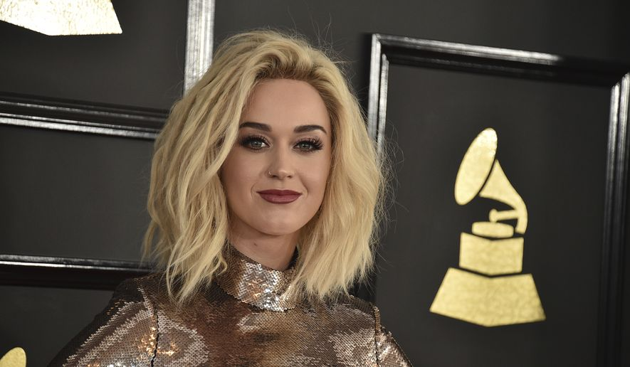Katy Perry arrives at the 59th annual Grammy Awards at the Staples Center in Los Angeles, Feb. 12, 2017 in this file photo. (Photo by Jordan Strauss/Invision/AP, File) **FILE**