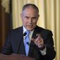 "Environmental Protection Agency Administrator Scott Pruitt has agreed with President Trump's intention to return the agency to its ""core mission"" of ensuring clean air and clean water. (Associated Press) ** FILE **"