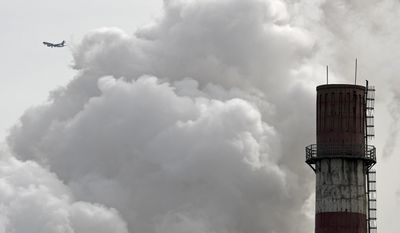Under the Paris climate agreement, China and India face far fewer restrictions than does the United States, a sticking point with President Trump, who says that the U.S. facing much stricter policies is one reason he wishes to exit the nonbinding accord.(AP Photo/Andy Wong, File)