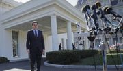 House Intelligence Committee Chairman Rep. Devin Nunes, R-Calif, walks out of the White House in Washington, Wednesday, March 22, 2017, to speak with reporters after a meeting with President Donald Trump. (AP Photo/Pablo Martinez Monsivais) ** FILE **