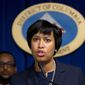 Washington Mayor Muriel Bowser made the hope for a $15 minimum wage, more than twice the federal standard, part of her 2016 State of the District speech. (Associated Press)
