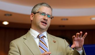 Rep. Patrick McHenry, a North Carolina Republican and member of his party's leadership team, laid down a marker Thursday afternoon, telling conservatives to accept or kill the GOP's Obamacare repeal bill. (Associated Press).