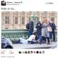 A unnamed Muslim woman who was photographed by journalist  Jamie Lorriman walking on Westminster Bridge in the immediate aftermath of Wednesday's terrorist attack in London is defending herself after social media users accused her of apathy. (Twitter/@RichardBSpencer)