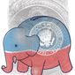 Illustration on the GOP and the Federal budget by Linas Garsys/The Washington Times