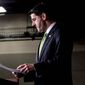 House Speaker Paul D. Ryan is finding his speakership in peril after last week's failure to repeal Obamacare, as conservative elements are crying out for the speaker to step down from his posting. (Associated Press)