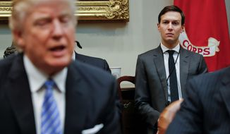Jared Kushner, despite lacking experience, is working for father-in-law President Trump on issues of government efficiency. (Associated Press)