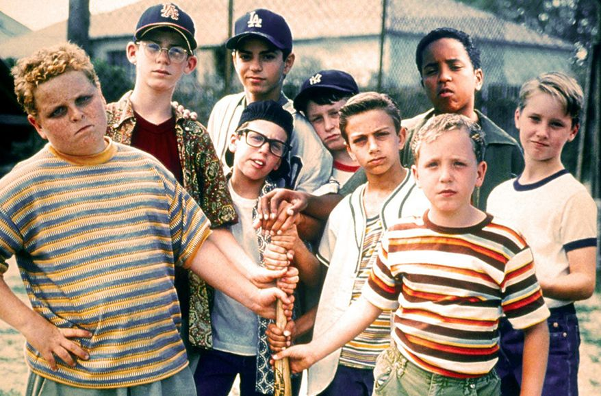 The Sandlot  (1993) - A coming-of-age baseball comedy co-written and directed by David M. Evans (who also narrated the film), which tells the story of a group of young baseball players during the summer of 1962. It stars Tom Guiry, Mike Vitar, Karen Allen, Denis Leary and James Earl Jones. It grossed $33 million worldwide and has become a cult film