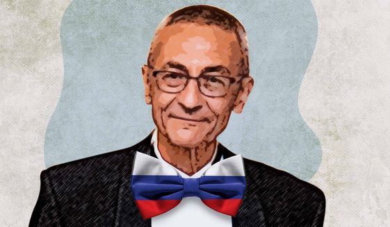Podesta Russian Ties Illustration by Greg Groesch/The Washington Times