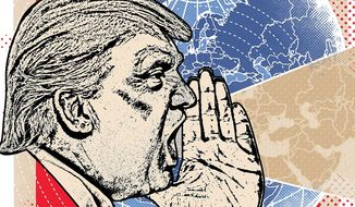 Trump's Message for Our Allies Illustration by Linas Garsys/The Washington Times