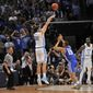 North Carolina forward Luke Maye's late jumper help beat Kentucky last week to get the Tar Heels back to the Final Four. North Carolina runs plays in practice with a 15-second shot clock for precisely the kind of scenario that Maye experienced. (Associated Press)