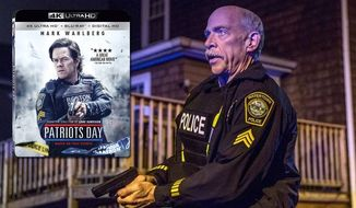 "J.K. Simmons as Watertown Police Sgt. Jeffrey Pugliese in ""Patriots Day,"" now available on 4K Ultra HD from Lionsgate Home Entertainment."