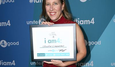 Susan Wojcicki, 49, CEO of YouTube. In 2006, Wojcicki urged her bosses at Google to purchase the video site for $1.65 billion deal. Now YouTube has more than 1 billion unique visitors a month and is valued at an estimated $70 billion