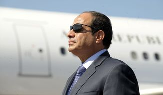 Egyptian President Abdel-Fattah el-Sissi meets Monday at the White House with President Trump. (Associated Press/File)