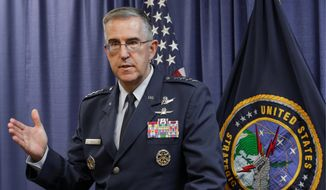 Air Force Gen. John E. Hyten, commander of the Strategic Command, warns that terrorist drones pose a threat to U.S. nuclear facilities. (Associated Press)