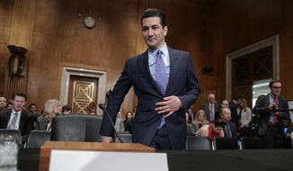 Dr. Scott Gottlieb, President Donald Trump's nominee to head the Food and Drug Administration, appears at his confirmation hearing before the Senate Committee on Health, Education, Labor, and Pensions, on Capitol Hill in Washington, Wednesday, April 5, 2017. (AP Photo/J. Scott Applewhite)