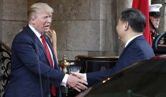 President Trump met with Chinese President Xi Jinping at at Mar-a-Lago resort Thursday in Palm Beach, Florida. The two are expected to discuss North Korea in their meeting. However, columnist L. Todd Wood notes in his column that South Korea has been absent from discussions involving North Korea. (AP Photo/Alex Brandon)