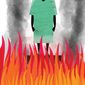 Illustration on the healthcare provider/insurance crisis by Linas Garsys/The Washington Times