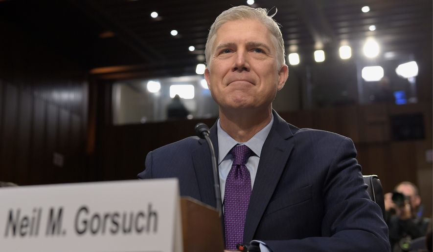With Neil Gorsuch confirmed to the Supreme Court Friday, President Trump now turns his attention to over 100 other lower court vacancies. (Associated Press)