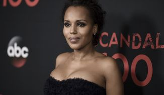 """Kerry Washington attends the """"Scandal"""" 100th Episode Celebration at Fig & Olive on Saturday, April 8, 2017, in West Hollywood, Calif. (Photo by Richard Shotwell/Invision/AP)"""