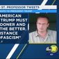 "Lars Maischak, an American History lecturer at California State University, Fresno, is facing backlash over a February tweet that declared President Trump ""must hang."" (ABC 30)"