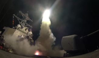 President Trump decided that inaction against Syria posed far greater risk to the U.S. than action. (Associated Press/File)