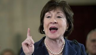Sen. Susan M. Collins, Maine Republican, said she will make a final decision this fall on whether to run for governor.