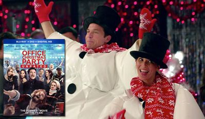 """Jason Bateman and Olivia Munn co-star in """"Office Christmas Party: Unrated,"""" now available on Blu-ray from Paramount Home Entertainment."""