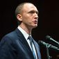 "Former President Trump adviser Carter Page called allegations that he acted as a Russian agent ""a joke,"" calling the whole matter ""beyond words."" (Associated Press) ** FILE **"