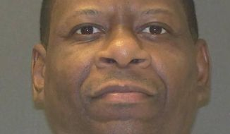 This undated photo provided by the Texas Department of Criminal Justice shows inmate Rodney Reed. The state's top criminal appeals court is refusing to allow additional DNA testing of evidence in the lengthy Central Texas death penalty case of Reed. The Texas Court of Criminal Appeals says the request by Reed's attorneys was the latest of a number of legal moves to unreasonably delay his execution for the April 1996 abduction, rape and strangling of 19-year-old Stacy Stites. Her body was found off the side of a road in Bastrop County. (Texas Department of Criminal Justice via AP)
