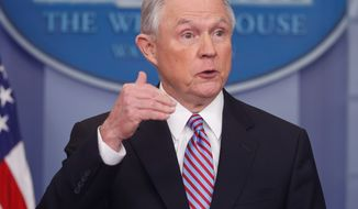 """""""The President has made dismantlement and destruction of drug cartels a top priority,"""" said Attorney General Jeff Sessions in a statement on Thursday. (Associated Press)"""