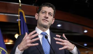 House Speaker Paul D. Ryan, Wisconsin Republican, signaled on Wednesday that negotiators were putting the finishing touches on a plan to bridge rifts within the party over health care. (Associated Press/File)