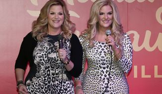 Trisha Yearwood unveils her wax figure at Madame Tussauds at Opry Mills on Thursday, April 13, 2017, in Nashville, Tenn. (Photo by Al Wagner/Invision/AP)