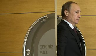 Russian President Vladimir Putin has rendered the Intermediate-Range Nuclear Forces Treaty void by refusing to come back into compliance with its provisions and by escalating its violations. (Associated Press/File)