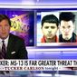 "Fox News host Tucker Carlson made the argument Thursday night that the MS-13 criminal gang that has wreaked havoc on inner cities across the country poses ""a far greater threat"" to Americans than the Islamic State terrorist group. (Fox News)"